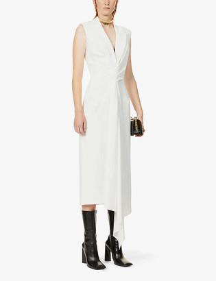 Alexander McQueen Sleeveless woven midi blazer dress