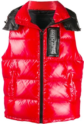 Philipp Plein 20th Anniversary shiny padded vest