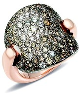 Pomellato Sabbia Ring with Brown and White Diamonds in 18K Rose Gold