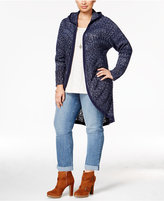 Style&Co. Style & Co. Plus Size Open-Front Hooded Cardigan, Only at Macy's