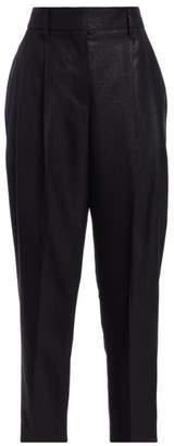 Brunello Cucinelli Glitter Wool-Blend Crop Pants