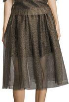 Necessary Objects Metallic Tulle Skirt