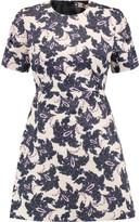 MSGM Printed Cotton Mini Dress