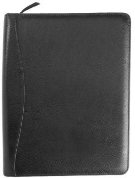 Royce New York Zippered Pebbled Leather Tech Case Organizer
