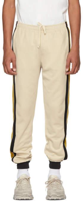 Gucci Beige Striped Lounge Pants