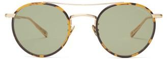 Garrett Leight X Rimowa Round Metal And Acetate Sunglasses - Green
