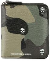 Alexander McQueen skull camouflage wallet