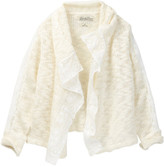 Lucky Brand Square Cozy Crochet Lace Cardigan (Big Girls)