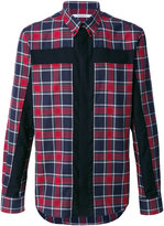 Givenchy crucifix panel checked shirt - men - Cotton - 39