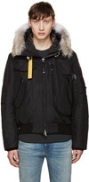 Parajumpers Black Down Gobi Coat