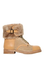 See By Chloe 20mm Leather Amp Shearling Boots Shopstyle