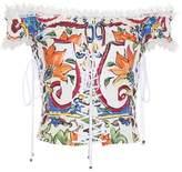 Dolce & Gabbana Printed cotton corset top