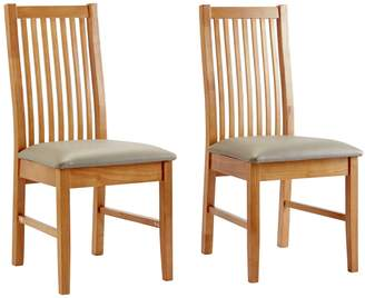 Argos Home Paris Pair of Solid Oak Dining Chairs