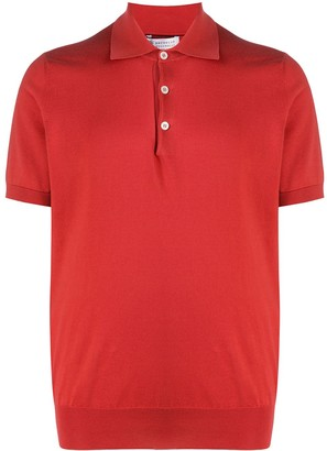 Brunello Cucinelli Short-Sleeve Knitted Polo Shirt