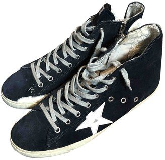Golden Goose Francy Blue Cloth Trainers