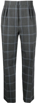 Marni Checked Straight-Leg Wool Trousers