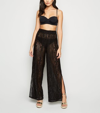 New Look Crochet Lace Beach Trousers