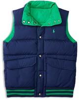 Ralph Lauren Boys' Reversible Down Puffer Vest - Sizes S-XL