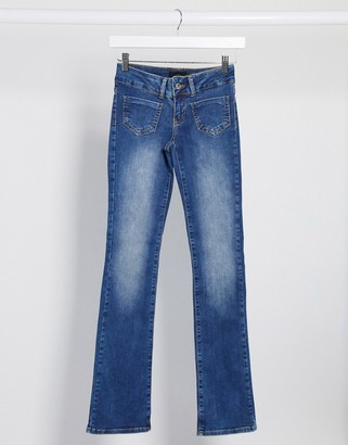 Vero Moda flare jeans with pocket details in blue