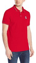 U.S. Polo Assn. Men's Solid Pique Polo Shirt with Color-Tipped Collar and Cuffs