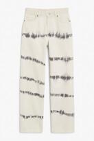 Thumbnail for your product : Monki Taiki straight leg tie-dye denim