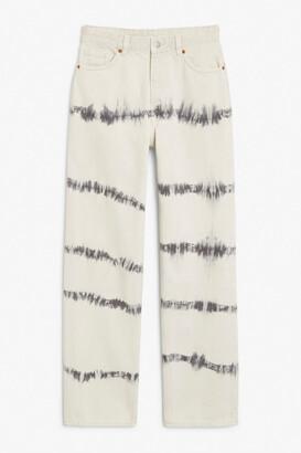 Monki Taiki straight leg tie-dye denim