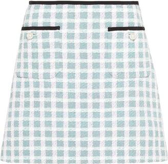 Miu Miu Checked Tweed Skirt