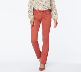 NYDJ Marilyn Straight Leg Jeans w/ Single Snap- Twill