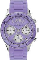 Jacques Lemans Ladies Rome Sports Wrist Watch with Light Purple Silicone Strap