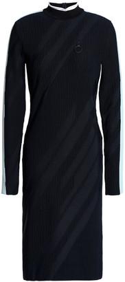 Versace Striped Ribbed-knit Dress