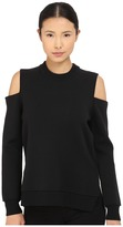 Vera Wang Cold Shoulder Pullover Double Face Knit
