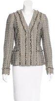 Diane von Furstenberg Metallic Fringe-Trimmed Jacket