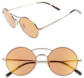 Oliver Peoples Women's Nickol 53Mm Round Sunglasses - Black