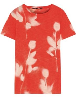 Proenza Schouler Printed Slub Cotton-jersey T-shirt