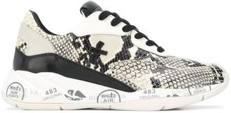 Premiata Scarlett snakeskin-effect sneakers
