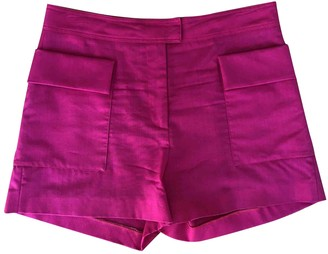 MSGM Pink Wool Shorts for Women