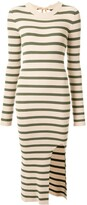 MM6 MAISON MARGIELA striped knitted midi dress