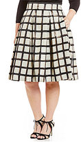 Eliza J Plus Plaid Midi Skirt