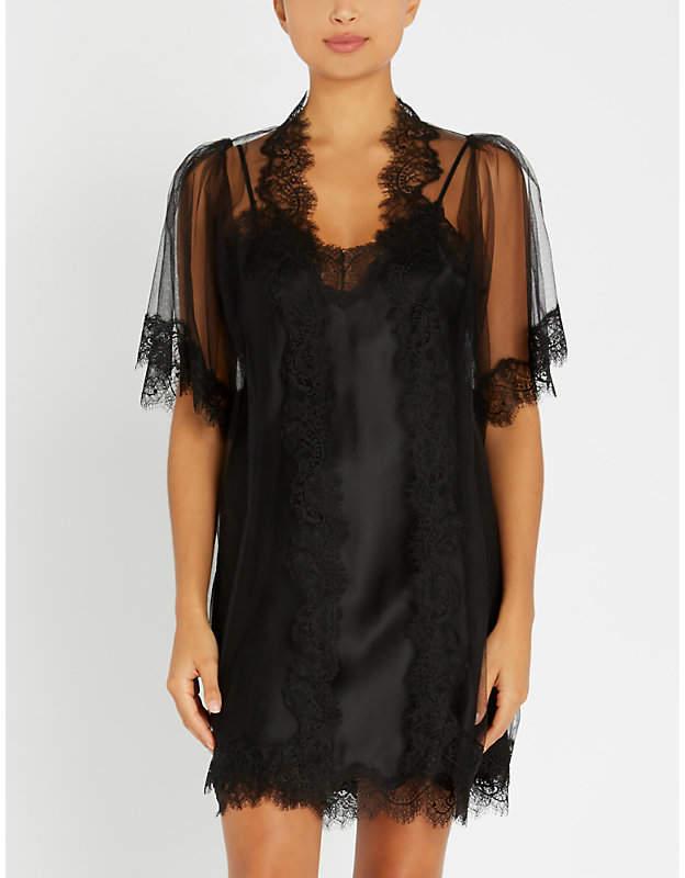 c20cbb5b19aa Sheer Black Kimono - ShopStyle UK