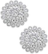 Macy's Diamond Flower Stud Earrings (1/2 ct. t.w.) in 14k White Gold