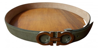 Salvatore Ferragamo Green Leather Belts