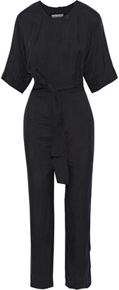 Rebecca Minkoff Carrie Belted Twill Jumpsuit