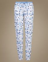 Marks and Spencer Floral Print Cuffed Pyjama Bottoms