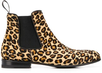 Scarosso Lexi zebra print chelsea boots
