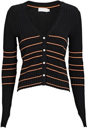 Jonathan Simkhai Lilliana Striped Rib Knit Cardigan