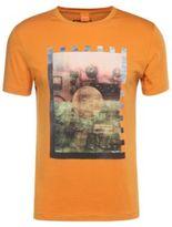 Hugo Boss Terko Cotton Screen Print T-Shirt M Orange