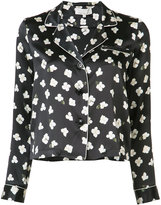 Fleur Du Mal floral longsleeve pyjama top - women - Silk - XS