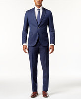 HUGO BOSS HUGO Men's Extra-Slim Fit Blue Tonal Grid Suit