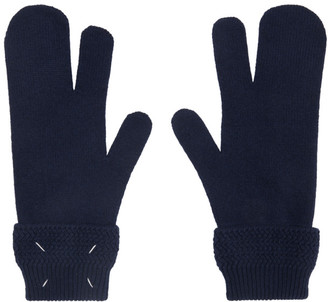 Maison Margiela Navy Tabi Gloves