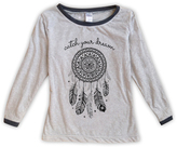 Urban Smalls Light Heather Gray 'Dream' Boatneck Top - Toddler & Girls